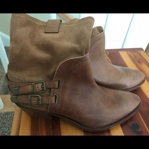 Sixtyseven Leather Buckle Boots Spain NWT EU39 8.5